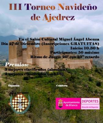 III Torneo Navideño de Ajedrez ECA San Roque  el día 27 de Diciembre
