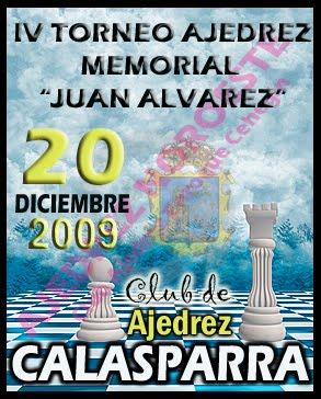 "ACABO EL IV TORNEO DE AJEDREZ ""MEMORIAL JUAN ÁLVAREZ SÁNCHEZ"" CALASPARRA"