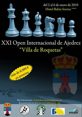 CLASIFICACION 4 RONDA XXI Open Internacional de Ajedrez 'Villa de Roquetas'